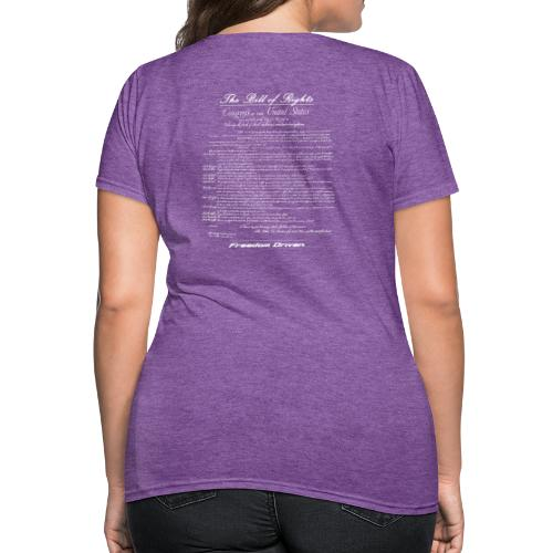 US Bill of Rights White Lettering - Women's T-Shirt
