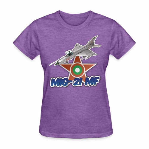 Bulgarian Air Force Mig-21 MF Jet Fighter - Women's T-Shirt