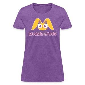 Purple T-shirt with yellow bunny - Women's T-Shirt