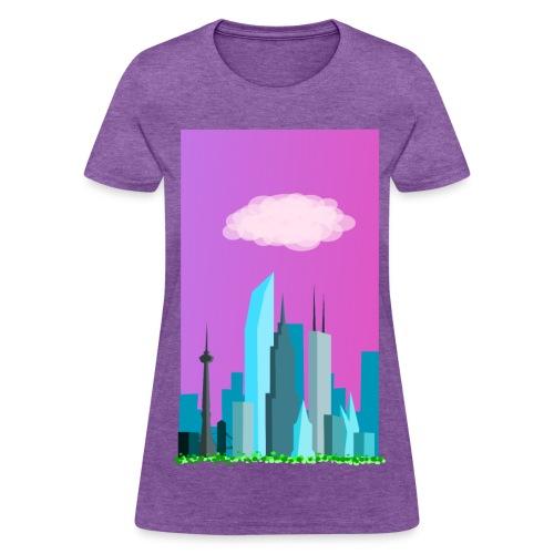 Cloudy evening city skyline - Women's T-Shirt