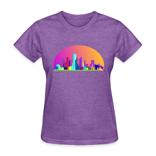 Summer evening city skyline - Women's T-Shirt
