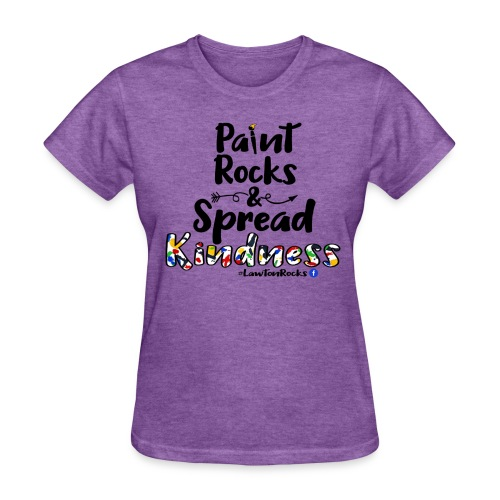 Paint Rocks, Spread Kindness_LawtonRocks - Women's T-Shirt
