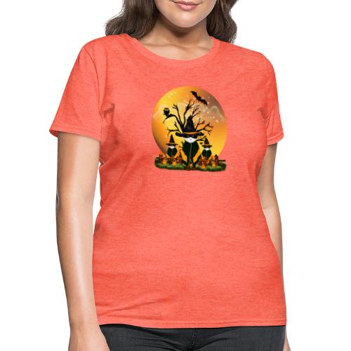 Happy Halloween with 3 masked cats - Women's T-Shirt