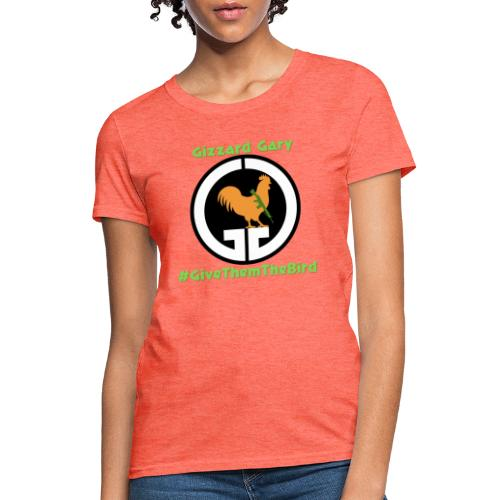 Logo with channel name and hashtag. - Women's T-Shirt