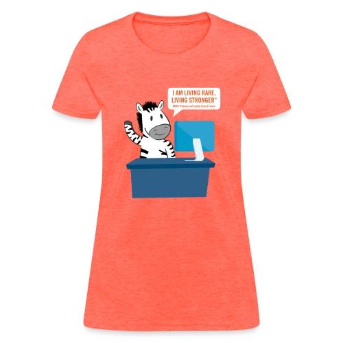 Living Rare, Living Stronger 2020 Virtual Zebra - Women's T-Shirt