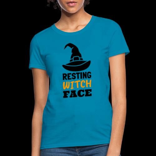 Resting Witch Face | Funny Halloween - Women's T-Shirt