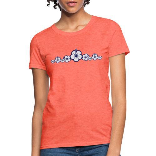 Hawaiian Hibiscus Flowers - Surfing Style - Women's T-Shirt