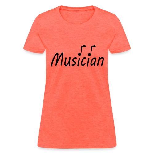 musician black - Women's T-Shirt