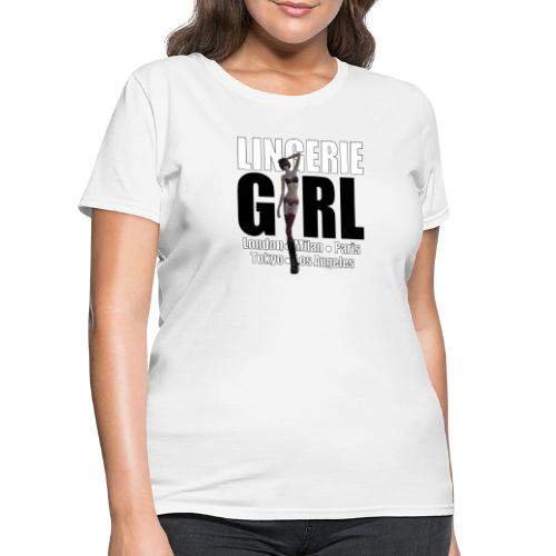 The Fashionable Woman - Lingerie Girl - Women's T-Shirt