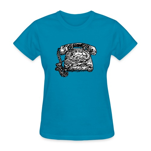 Vintage Telephone - Hot Line - Women's T-Shirt