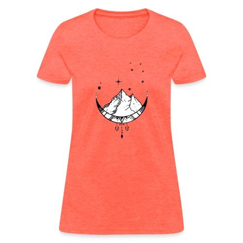 Celestial Travel Moon - Women's T-Shirt