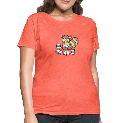 Reading Raccoon - Women's T-Shirt