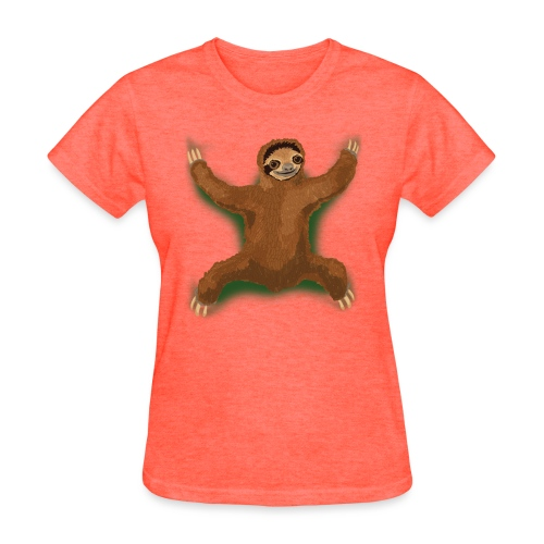 Sloth Love Hug - Green - Women's T-Shirt