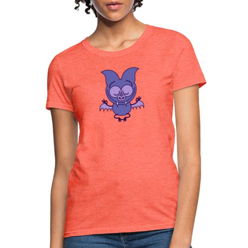 Purple bat meditating in joyful mood - Women's T-Shirt