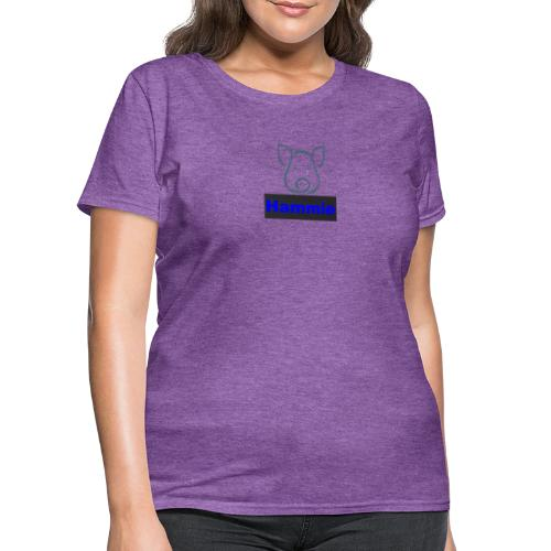 Hammie Logo with Brand Name - Women's T-Shirt