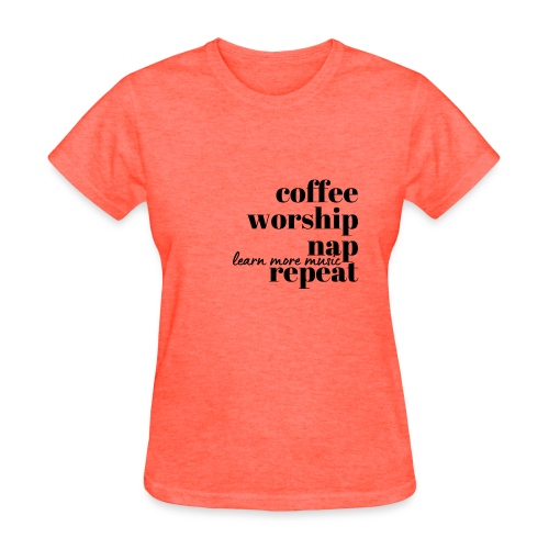 Coffee Worship Nap Tee - Women's T-Shirt