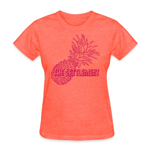 Pineapple with Band Name | The Settlement - Women's T-Shirt