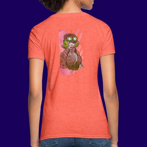 Steampunk girl - Women's T-Shirt