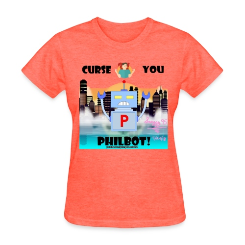 Curse You Philbot Orange T-Shirt - Women's T-Shirt