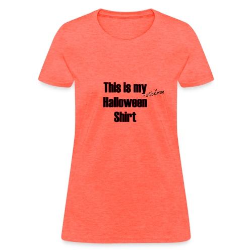 Stickman Halloween Shirt - Women's T-Shirt