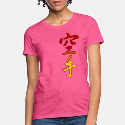 Karate Kanji Red Yellow Gradient - Women's T-Shirt