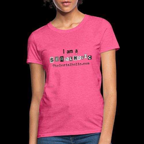 Black Serialholic Logo - Women's T-Shirt