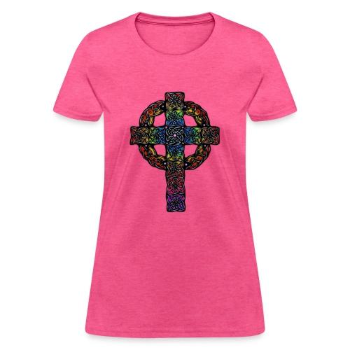 Celtic Cross rainbow - Women's T-Shirt