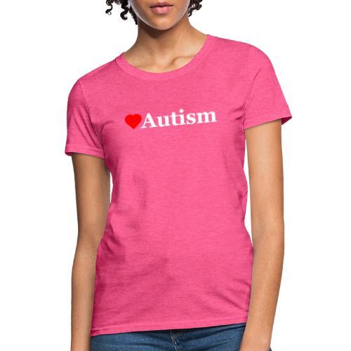 Heart Autism w - Women's T-Shirt