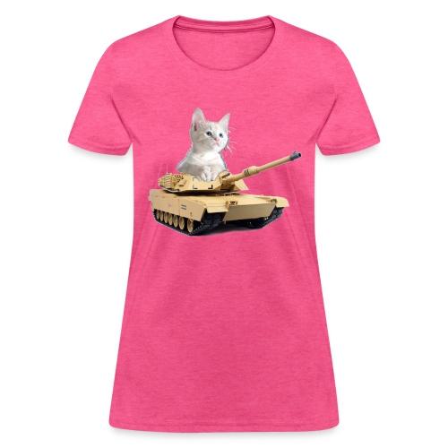 Tank Cat - funny Cat in a rc tank - Women's T-Shirt