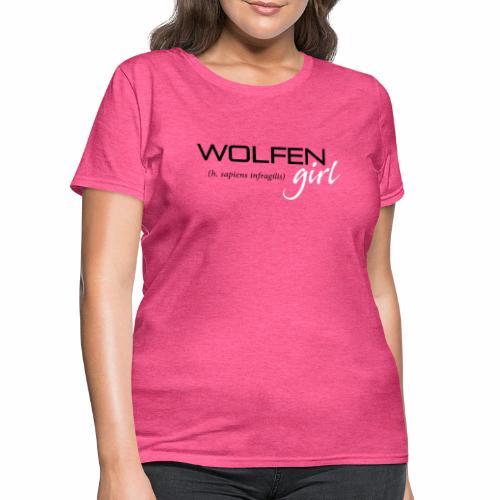 Wolfen Girl on Pink - Women's T-Shirt