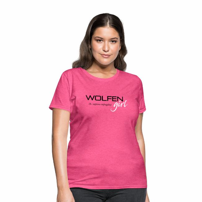 Wolfen Girl on Pink