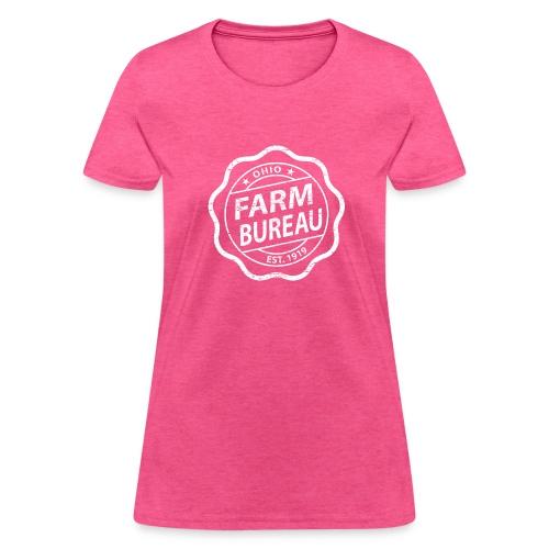 White Distressed Logo - Women's T-Shirt