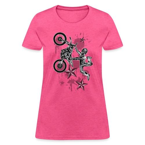 Star Splattered Dirt Biker - Women's T-Shirt