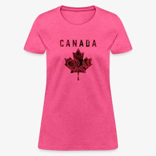 Canada Maple Roses - Women's T-Shirt