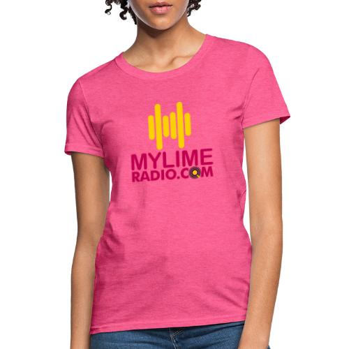 MyLimeRadio Main LOGO (Tri Colour) - Women's T-Shirt