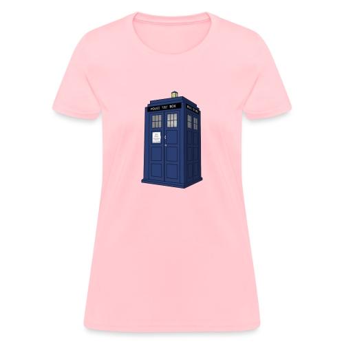 blue call box - Women's T-Shirt