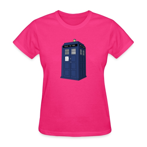 blue call box - Women's T-Shirt