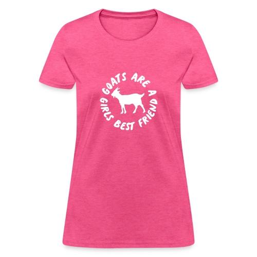 goats are a girls best friend - Women's T-Shirt