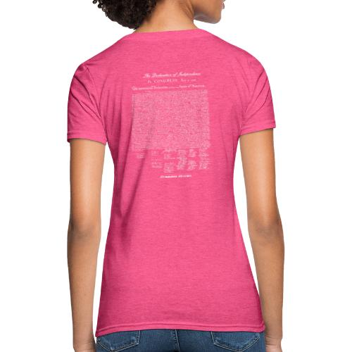Declaration of Independence White Lettering - Women's T-Shirt