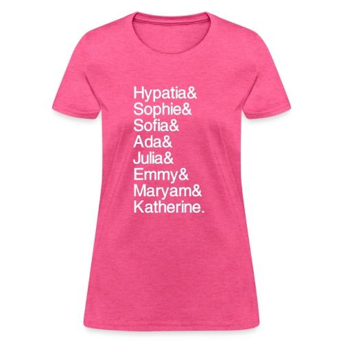 Math Gals OG w/ #MathGals hashtag - Women's T-Shirt