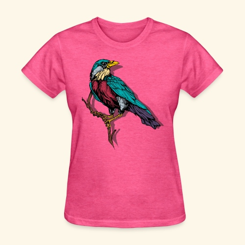 Colorful Bird Design - Women's T-Shirt