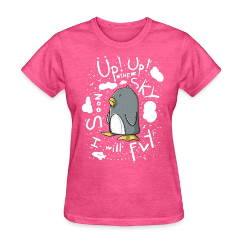 up up pinguin2 - Women's T-Shirt