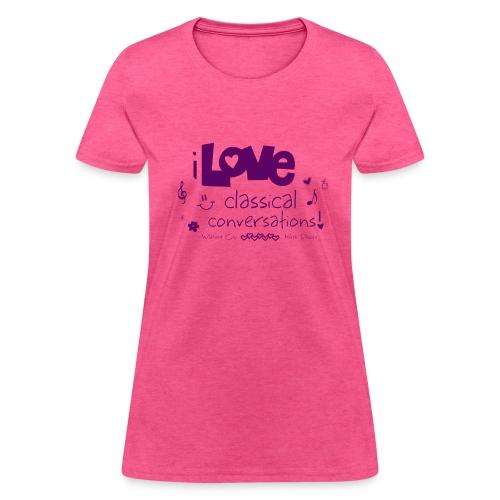 I Love CC Purple - Women's T-Shirt