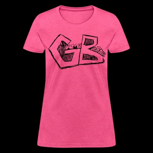 GameBr8ker Scribble Black Print - Women's T-Shirt