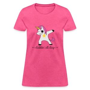 dabbing unicorn - Women's T-Shirt