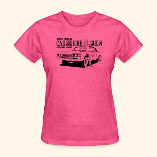 Nino's - Girl + Car Black - Women's T-Shirt