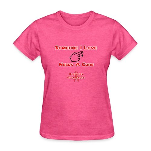 Someone I Love Needs A Cure Diabetes Awareness - Women's T-Shirt