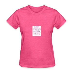 Pink proverbs 31 - Women's T-Shirt