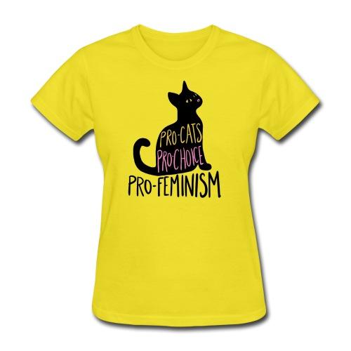 Pro-cats pro-choice pro-feminism - Women's T-Shirt