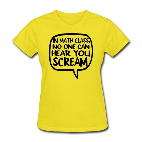 Math class scream - Women's T-Shirt